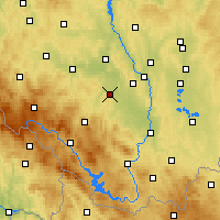 Nearby Forecast Locations - Vodňany - Χάρτης