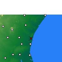Nearby Forecast Locations - Pondicherry - Χάρτης