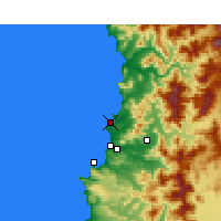 Nearby Forecast Locations - Quintero - Χάρτης
