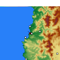 Nearby Forecast Locations - Concón - Χάρτης