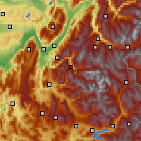 Nearby Forecast Locations - Le Bourg-d'Oisans - Χάρτης