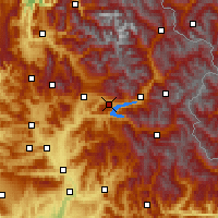 Nearby Forecast Locations - Chorges - Χάρτης