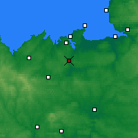 Nearby Forecast Locations - Dinan - Χάρτης