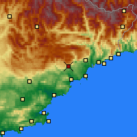 Nearby Forecast Locations - Γκρας - Χάρτης