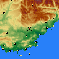 Nearby Forecast Locations - Draguignan - Χάρτης