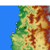 Nearby Forecast Locations - Quillota - Χάρτης