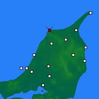 Nearby Forecast Locations - Hirtshals - Χάρτης