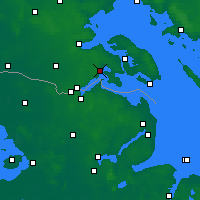 Nearby Forecast Locations - Gråsten - Χάρτης