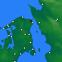 Nearby Forecast Locations - Hellebæk - Χάρτης