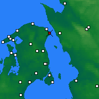 Nearby Forecast Locations - Helsingør - Χάρτης