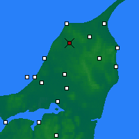 Nearby Forecast Locations - Hjørring - Χάρτης