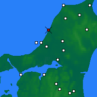 Nearby Forecast Locations - Løkken - Χάρτης