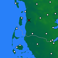 Nearby Forecast Locations - Skærbæk - Χάρτης