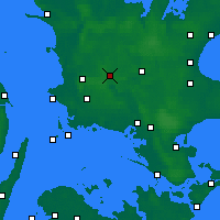 Nearby Forecast Locations - Sorø - Χάρτης