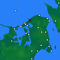 Nearby Forecast Locations - Tisvilde - Χάρτης