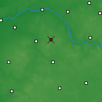 Nearby Forecast Locations - Sokołów Podlaski - Χάρτης