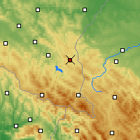 Nearby Forecast Locations - Ustrzyki Dolne - Χάρτης