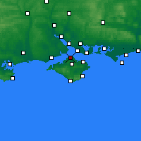 Nearby Forecast Locations - Cowes - Χάρτης