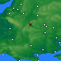 Nearby Forecast Locations - Warminster - Χάρτης