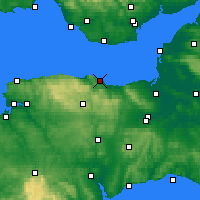 Nearby Forecast Locations - Minehead - Χάρτης