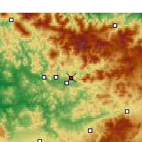 Nearby Forecast Locations - Taounate - Χάρτης