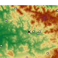 Nearby Forecast Locations - Ourtzagh - Χάρτης