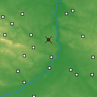 Nearby Forecast Locations - Ożarów - Χάρτης