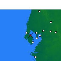 Nearby Forecast Locations - St Petersb.I(Αερολιμένας) - Χάρτης