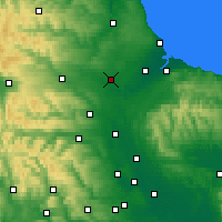 Nearby Forecast Locations - Darlington - Χάρτης