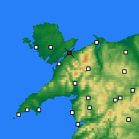 Nearby Forecast Locations - Menai Bridge - Χάρτης