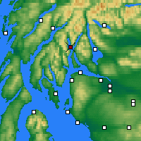 Nearby Forecast Locations - Loch Goil - Χάρτης