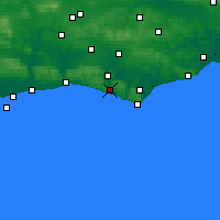 Nearby Forecast Locations - Newhaven - Χάρτης