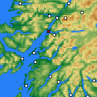 Nearby Forecast Locations - Loch Linnhe - Χάρτης