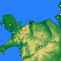 Nearby Forecast Locations - Conwy - Χάρτης