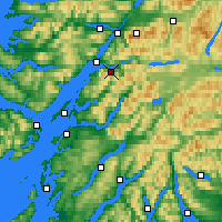 Nearby Forecast Locations - Ballachulish - Χάρτης