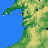 Nearby Forecast Locations - Barmouth - Χάρτης