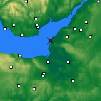 Nearby Forecast Locations - Weston-super-Mare - Χάρτης
