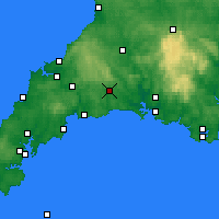 Nearby Forecast Locations - Liskeard - Χάρτης