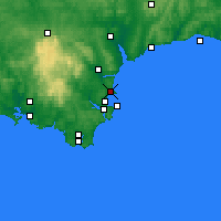 Nearby Forecast Locations - Torquay - Χάρτης