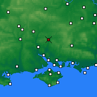 Nearby Forecast Locations - Winchester - Χάρτης