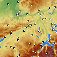 Nearby Forecast Locations - Olten - Χάρτης