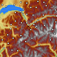 Nearby Forecast Locations - Martigny - Χάρτης