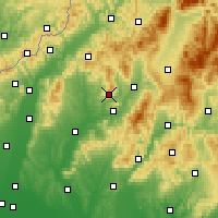 Nearby Forecast Locations - Cihoc - Χάρτης