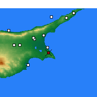 Nearby Forecast Locations - Παραλίμνι - Χάρτης
