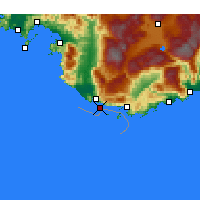 Nearby Forecast Locations - Πάταρα - Χάρτης