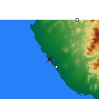 Nearby Forecast Locations - Mastabah - Χάρτης