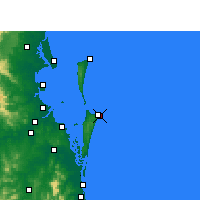 Nearby Forecast Locations - Point Lookout - Χάρτης