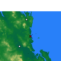 Nearby Forecast Locations - Yeppoon - Χάρτης