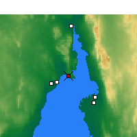 Nearby Forecast Locations - False Bay - Χάρτης