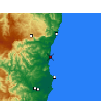 Nearby Forecast Locations - Nambucca Heads - Χάρτης
